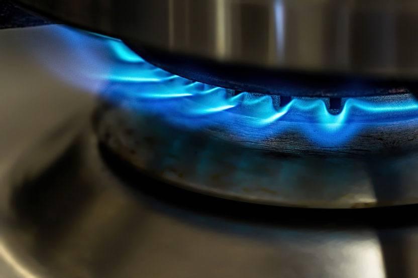 Propane flame